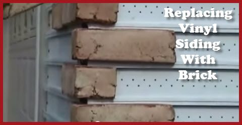 Replacing Vinyl Siding With Brick
