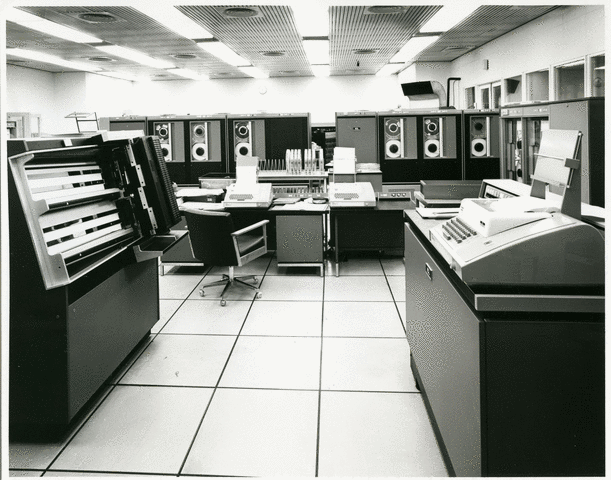 ICL 1904S computer - I worked on one of these at Brighton Poly. I remember they upgraded the memory from 128Kb to 256Kb, and brought the new memory unit in .... on a forklift.