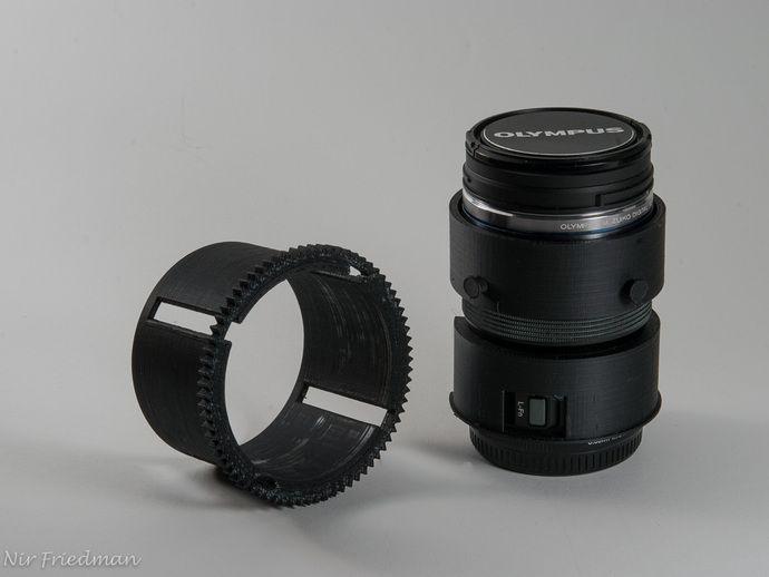 Olympus M Zuiko 12 50mm Zoom Gear For Nauticam Housing By Nirfriedman Olympus Gears 3d Printing
