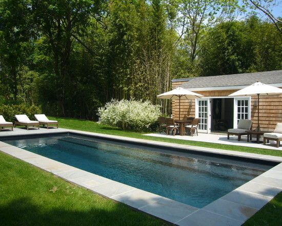 Rectangle Pool Landscaping Design, Pictures, Remodel, Decor and ...