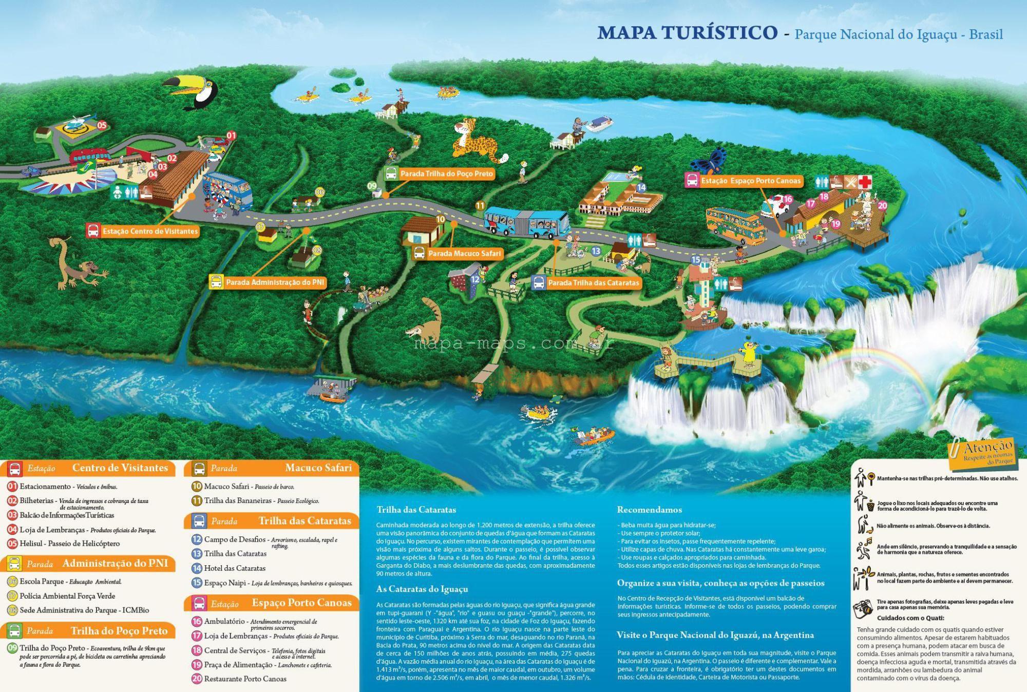 Cataratas De Iguazu Lado Argentino Mapa.Mapa De Las Cataratas Del Iguazu Del Lado De Brasil En 2019