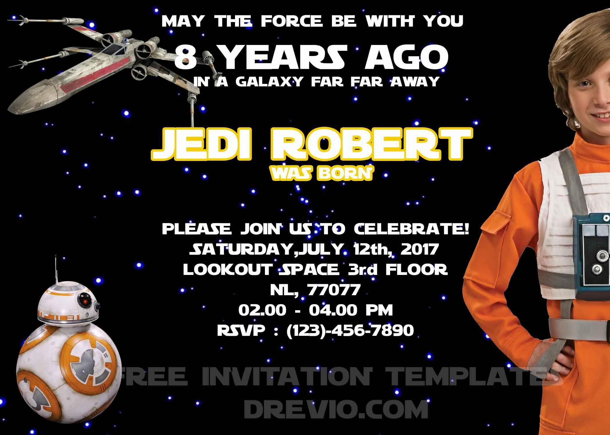 Star Wars Geburtstagskarte Zum Ausdrucken 18 | Geburtstag Einladung ...