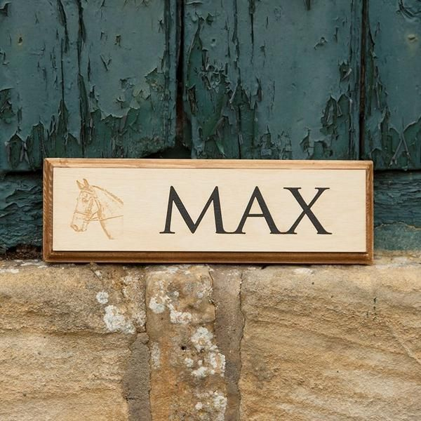 cfca5c4c9 This fine quality wooden stable sign from Gallop Guru is hand crafted in  the UK to