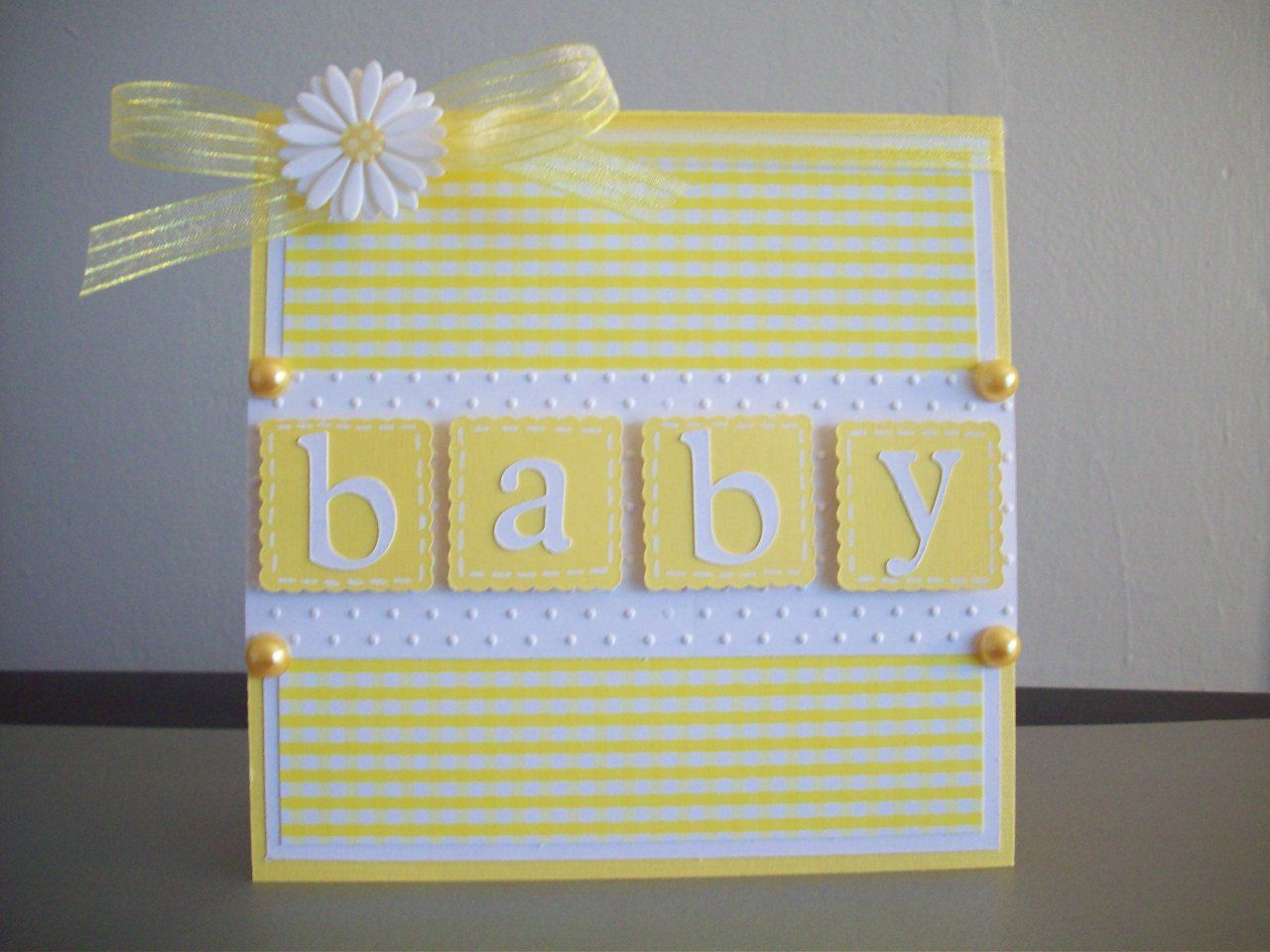 Plantin Schoolbook- Loved scalloped squares and polka dot white paper, pearls