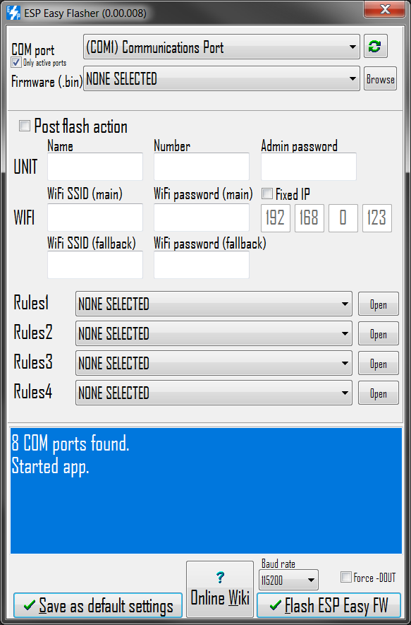esp easy flasher gui