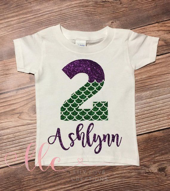 Mermaid Birthday Shirt Personalized Princess Litt