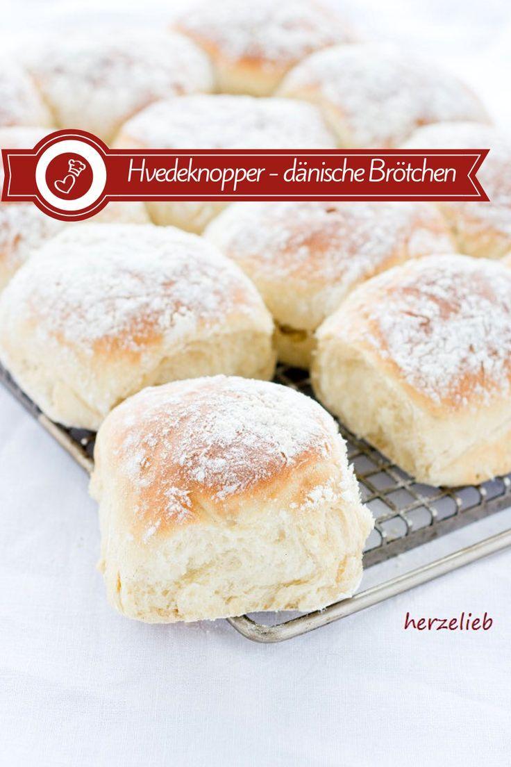 Dänische Hefebrötchen Rezept - Hvedeknopper (Brötchen)