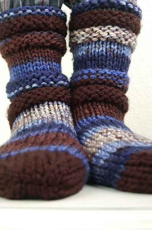 Easy Knit Slipper Socks Pattern | Knitting Pattern Slipper Socks ...