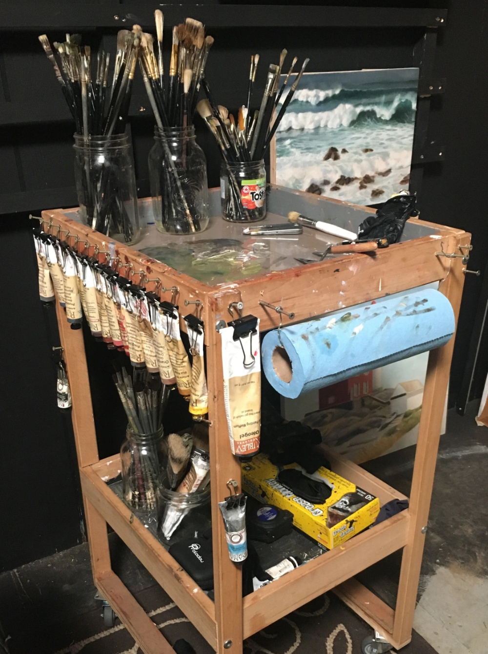 How to set-up an Oil Painting Studio…
