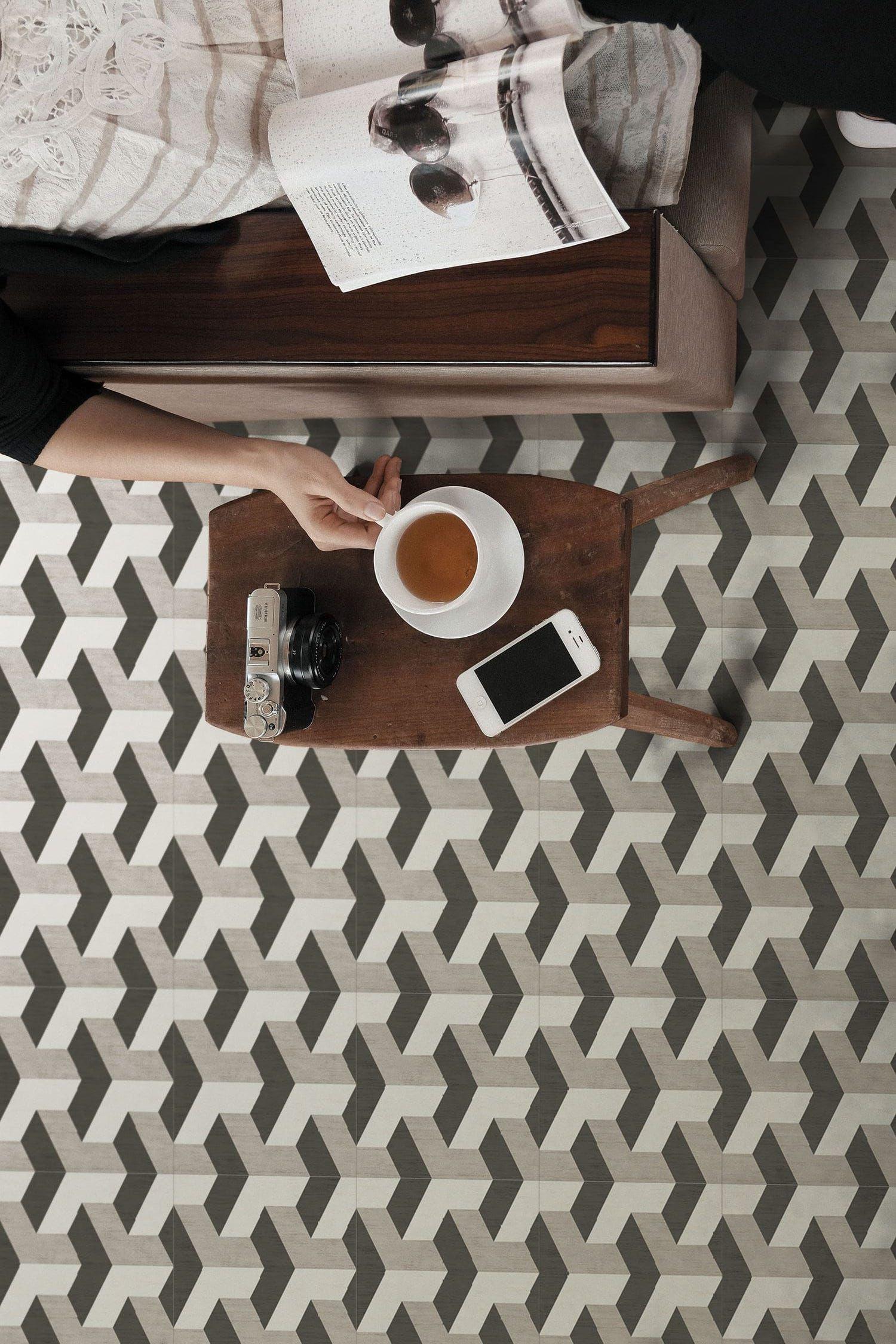 Revetement Sol Liege Avis carrelage céramique ornamenta damier t noir gris blanc pour