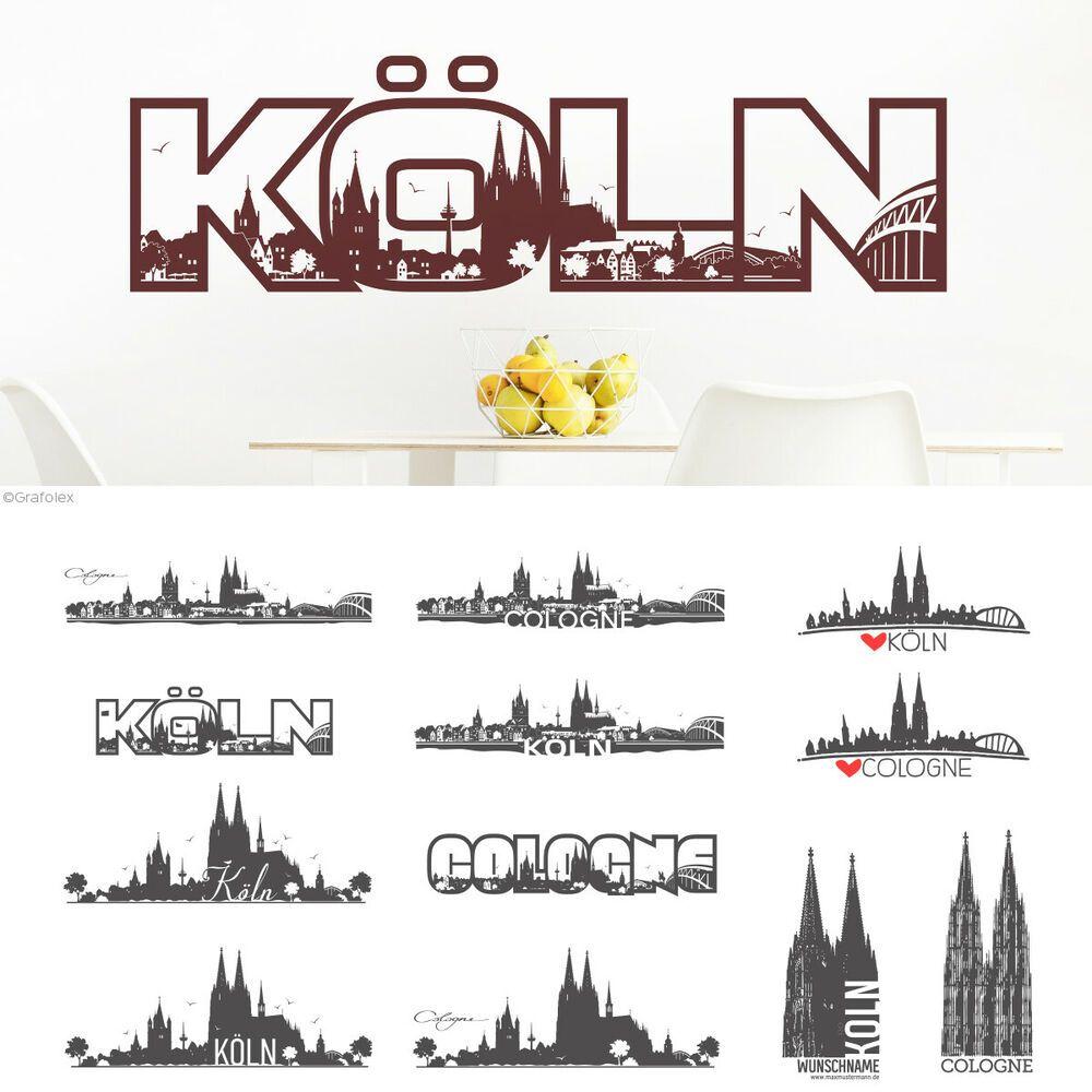 Wandtattoo Köln Skyline