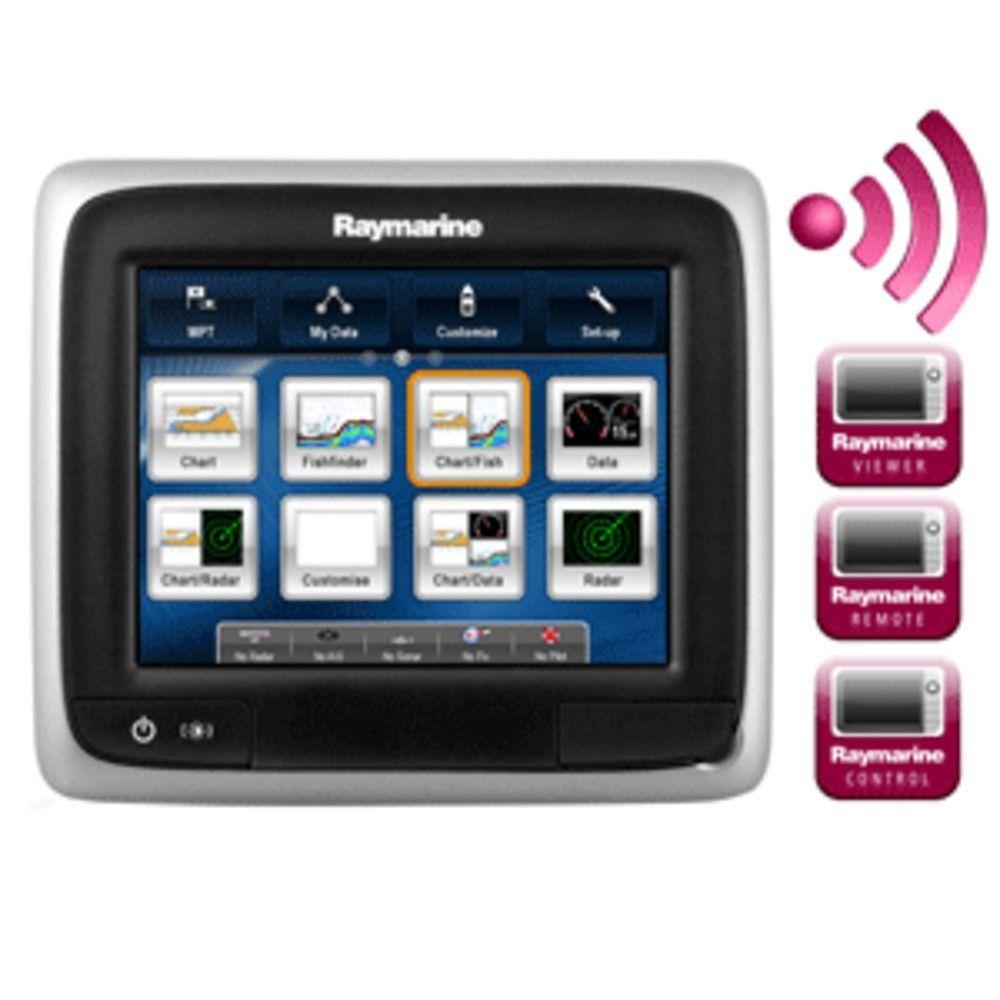 Raymarine a65 5.7 MFD Dsiplay w/Wi-Fi - US Lake & Coastal Chart by C-MAP