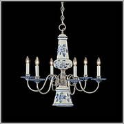 Another blue delft chandelier lighting pinterest delft another blue delft chandelier mozeypictures Choice Image