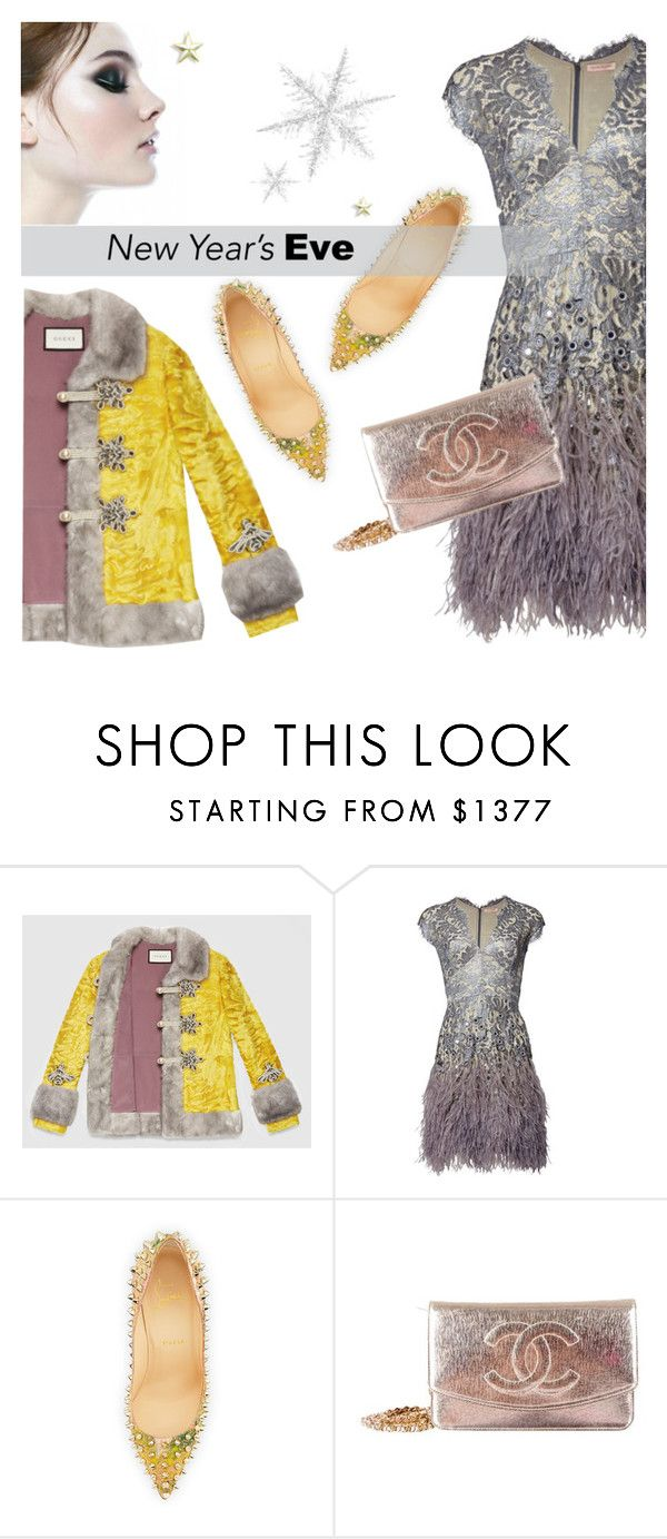 """""""NYE Dance Party"""" by theoni2009 ❤ liked on Polyvore featuring Gucci, Christian Louboutin, Chanel and nyestyle"""