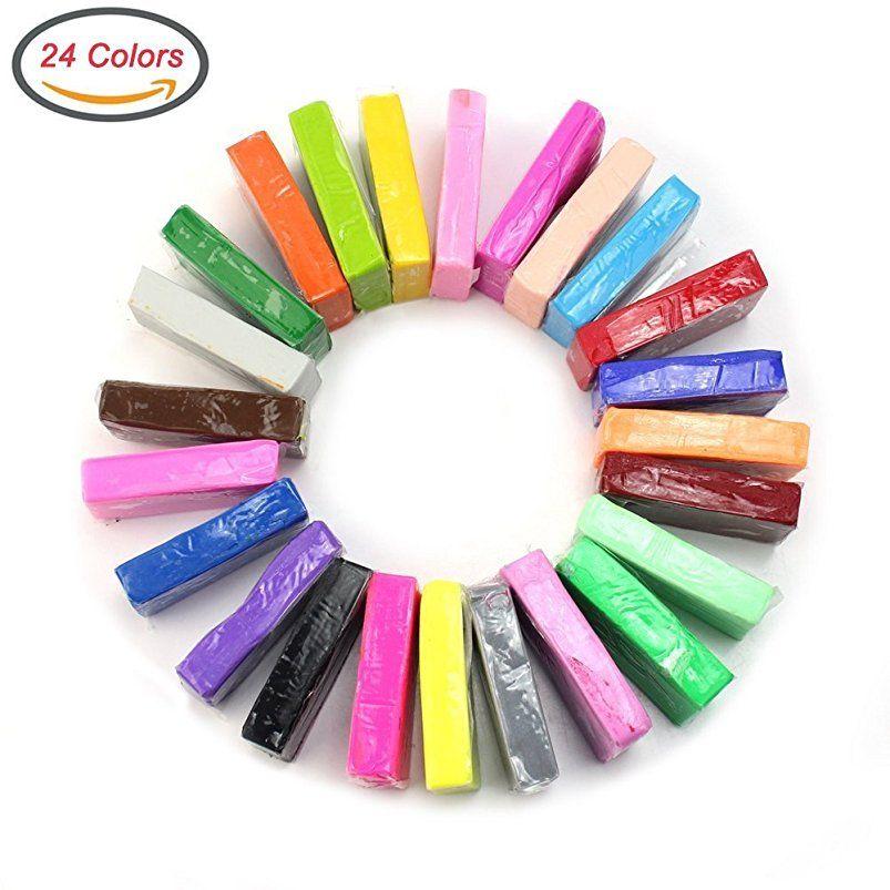 32 Farben Fimo Soft Polymer Ton Ofen Clay Modelliermasse Knete Modellierung NEU!