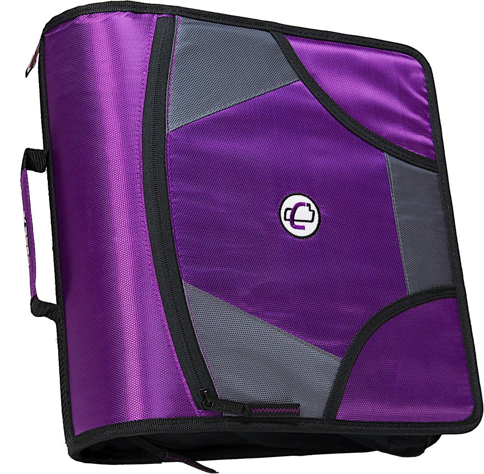case it king sized zip tab 4 inch d ring zipper binder with 5 tab