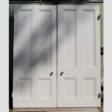 A Pair Of Victorian Pine Room Dividing Doors 206 Cm Wide Lassco