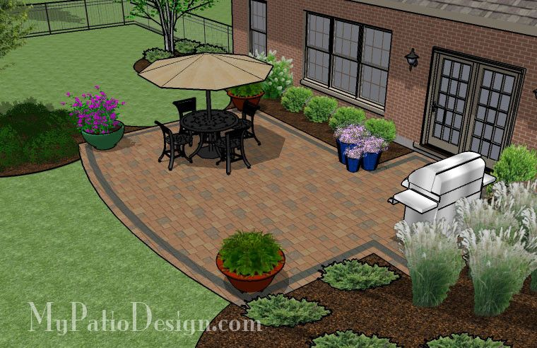 Creative And Simple Patio Design | 420 Sq Ft | Download Installation Plan,  How