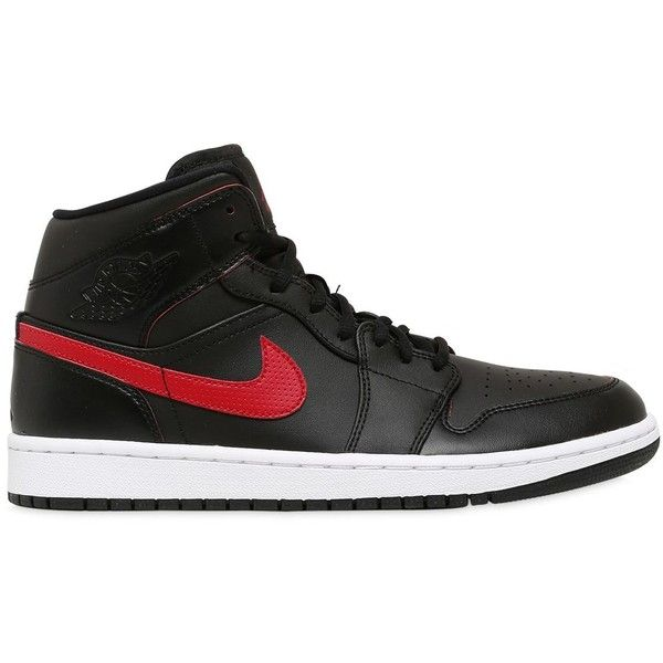 22a051293827b8 Nike Men Air Jordan 1 Mid Faux Leather Sneakers ( 145) ❤ liked on Polyvore