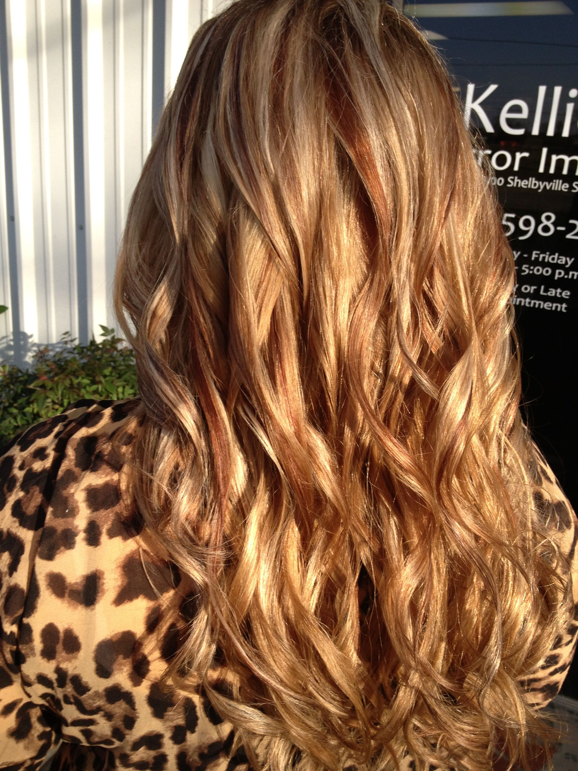 Hair color blonde red brown medium brown highlights lowlights