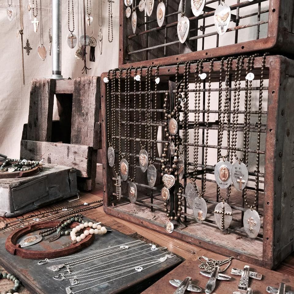 Window display ideas for jewelry  rustic attitude  facebookrusticattitude