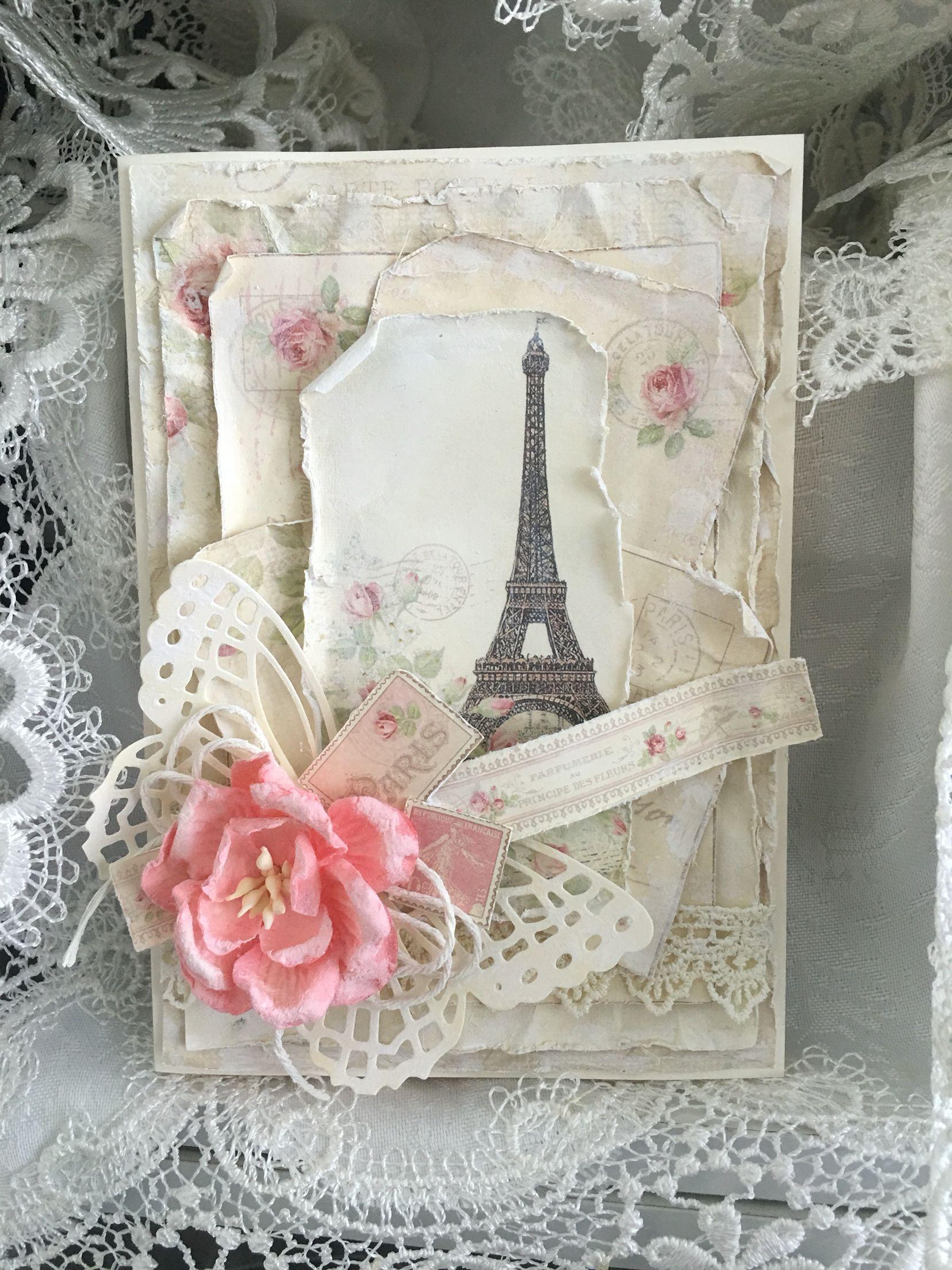 Who doesn't love Paris??? My card using Pion Design Paris Flea Market collection