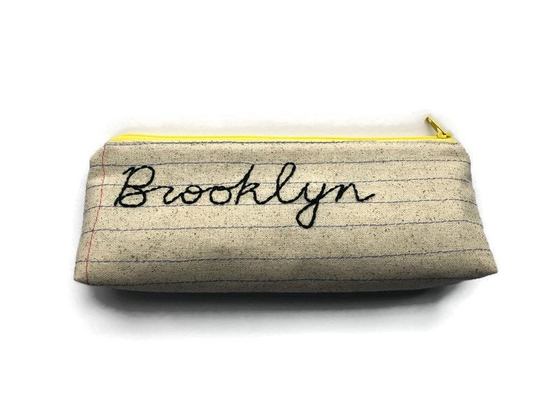 Brooklyn Bag Ready To Ship Handmade Zipper Pouch Etsy In 2020 Brooklyn Bag Zipper Pouch Pouch
