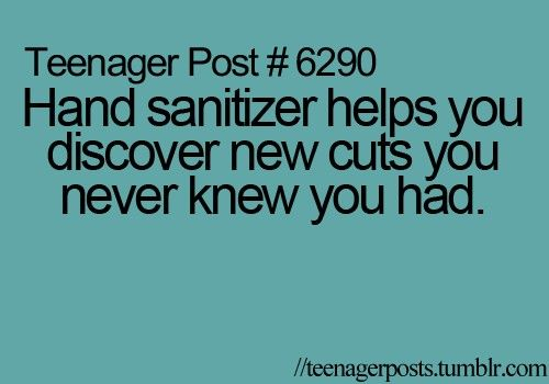 Teenager Post 6290 Hand Sanitizer Helps You Discover New Cuts
