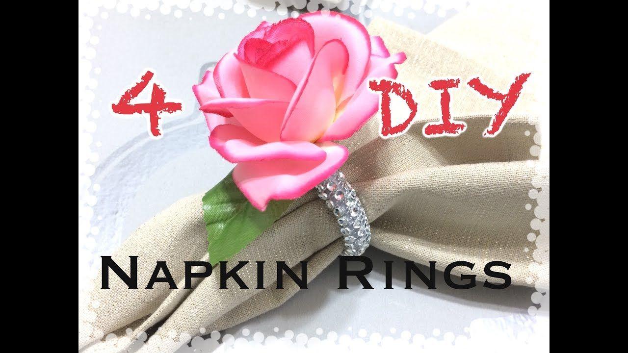 Easy Diy Napkin Ring Tutorial Dollar Tree Napkin Rings Dollar
