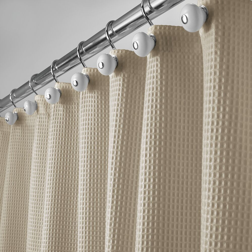 X Wide Waffle Weave Fabric Shower Curtain 108 X 72 In Deep Khaki