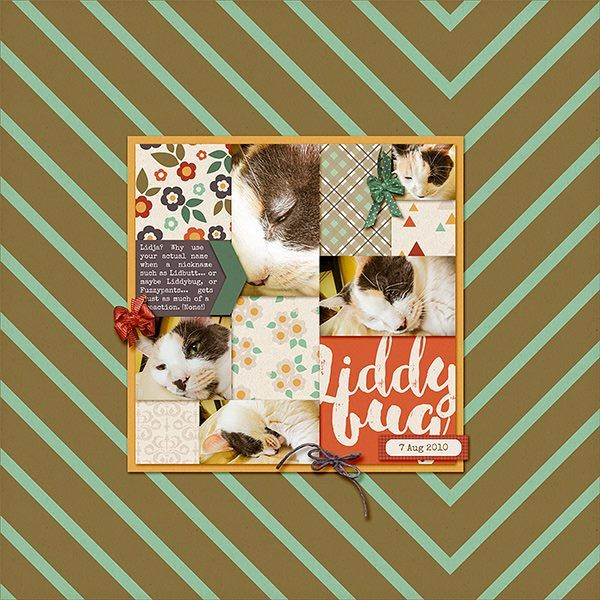 Monday's Highlight: Liddy Bug by Lorry Using: Template 43 Revisited By Grace Backgrounds by Laurie Ann Ash Tree Elements by Sara Gleason Bitty Bow Bits by Kim Jenson