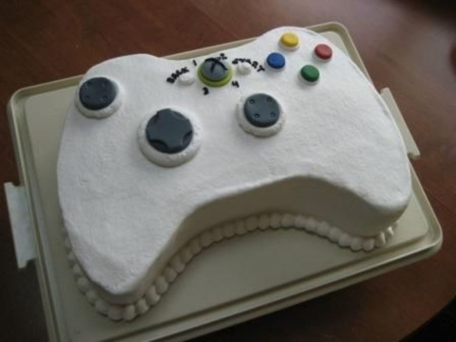 Coloring Pages Xbox 360 : Xbox theme controller shaped birthday cake nickey's cakes