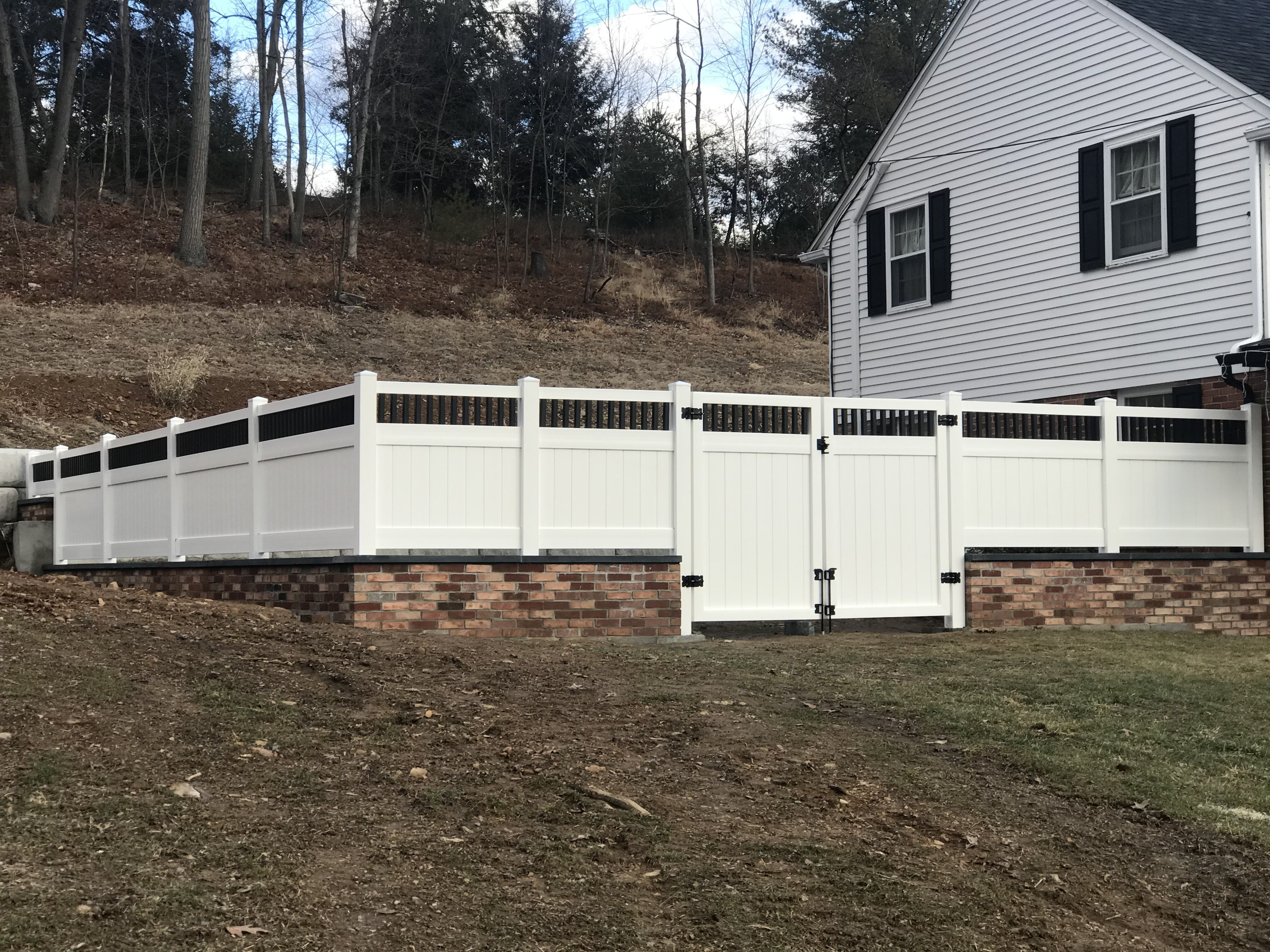 What A Show Stopper This Fence Is Solid White Vinyl Privacy