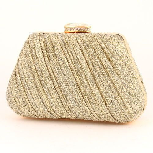 37656b0ec244 Glitter Evening Bag Of Clear, Gold Color In [Categories] At ...