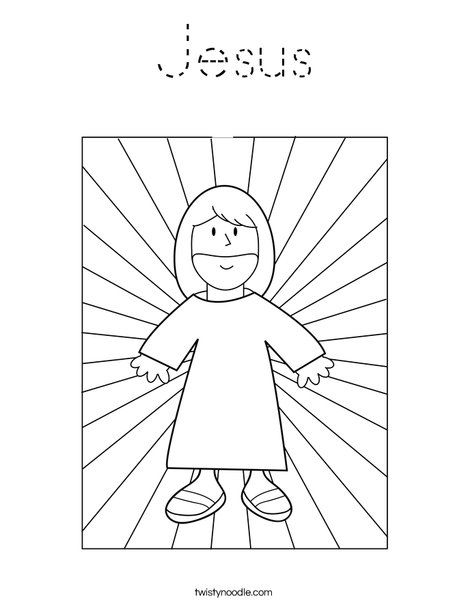 Jesus with Light Coloring Page | Sunday school | Pinterest | Sunday ...