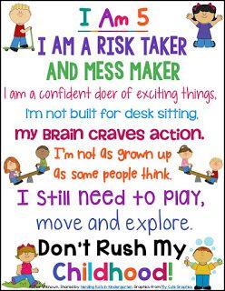 Kindergarten Quotes I Am A Child | Kindergarten Developmentally Appropriate  Kindergarten Quotes