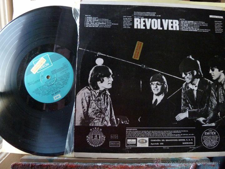 Discos de vinilo: THE BEATLES- REVOLVER-LP LABEL AZUL CLARO -CON ETIQUETA DE PROMOCION - Foto 3 - 54790306
