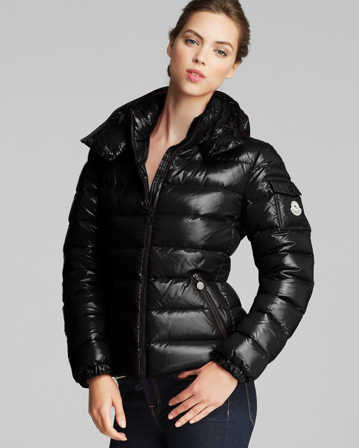 Moncler Bady Lacquer Hooded Short Down Coat Women Contemporary Bloomingdale S [ 1500 x 1200 Pixel ]