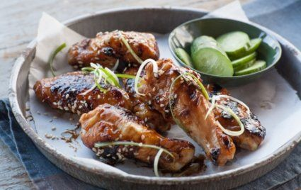 These Asian-Style Chicken Wings look absolutely mouthwatering!