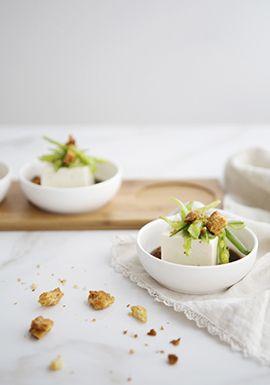 Qu Est Ce Que Le Tofu Soyeux : soyeux, Soyeux, Froid,, Marinade, Asiatique, Salade, Mange-tout, Trois, Recipe, Vegan, Snacks,, Food,, Recipes