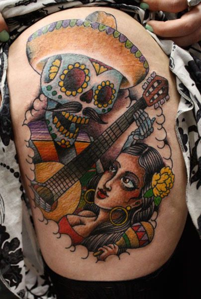 Dia De Los Muertos Religious Dia De Los Muertos Tattoos Day Of