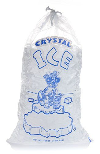 Plastic Ice Bags 10 Lb With Drawstring Closure Pack Of 100 From Freezybags Reusable Plastic Bags This Is An Ama Reusable Plastic Bags Bags Ice Bag