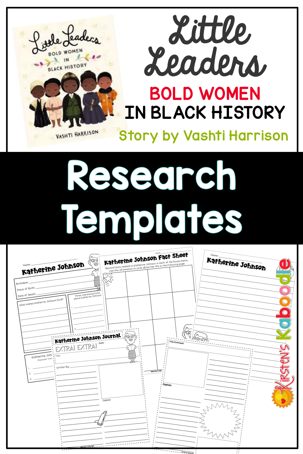 little leaders bold women in black history research templates
