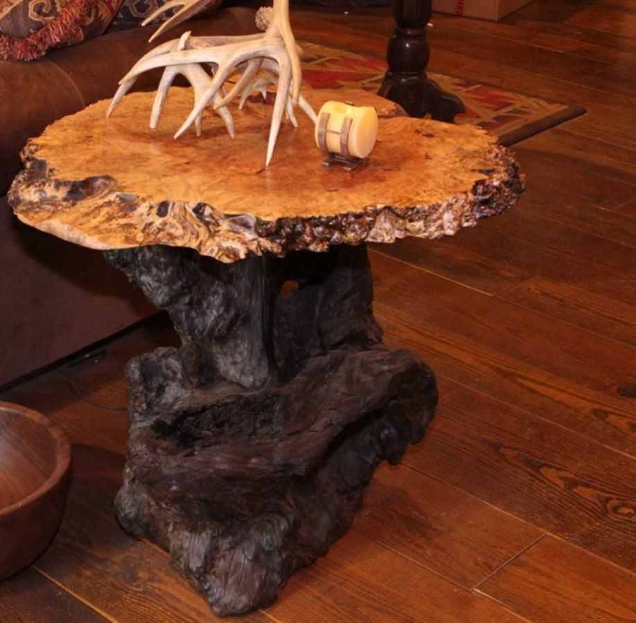 Genial Wood Slab End Table U2013 Include In The Decoration Of Our House A Rustic Piece  And Combine It With Furniture And Objects Of Other Styles Can Be A Success.
