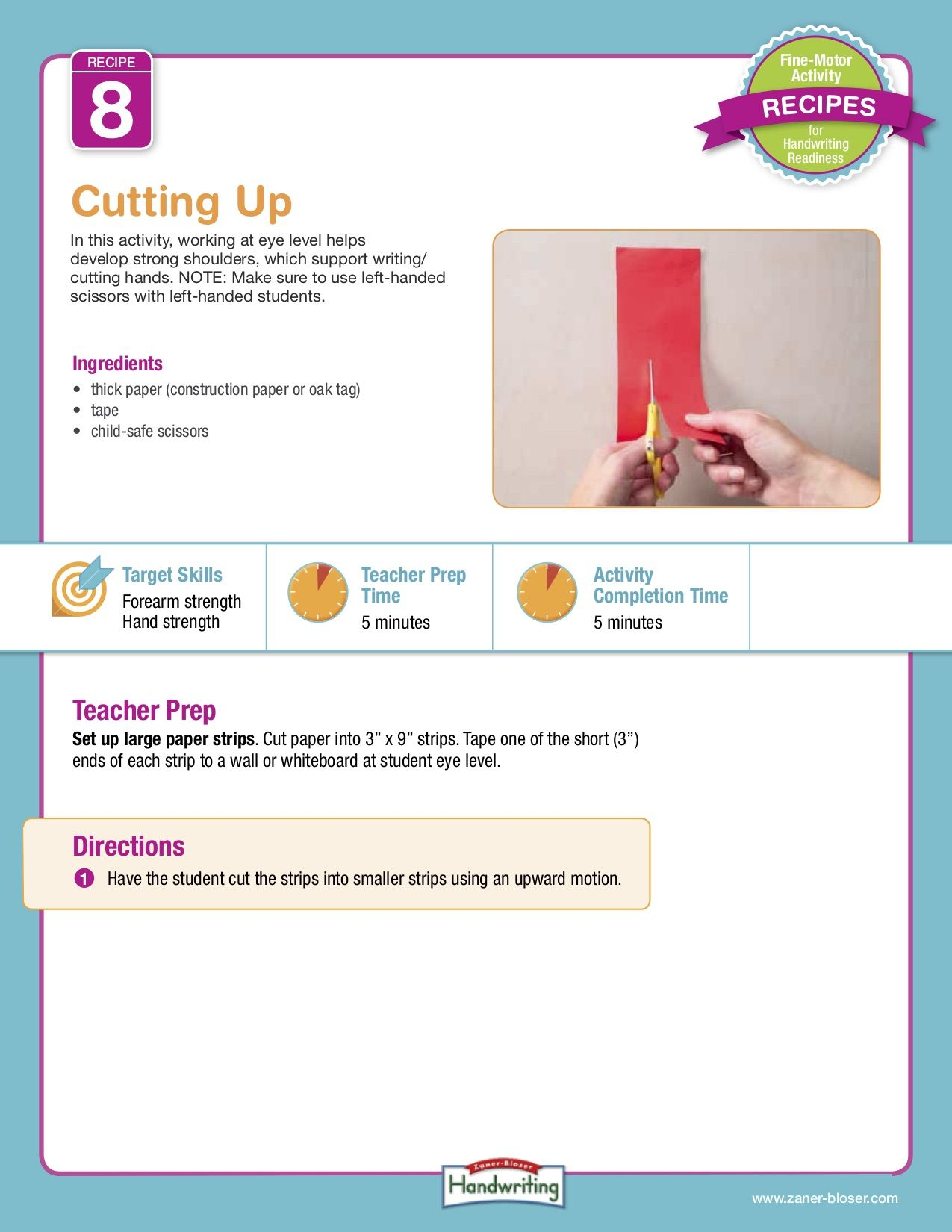 Pin On Fine Motor Activity Recipes For Handwriting Readiness