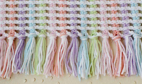 Simple Beautiful Crochet Baby Afghan Pattern #crochet #pattern ...