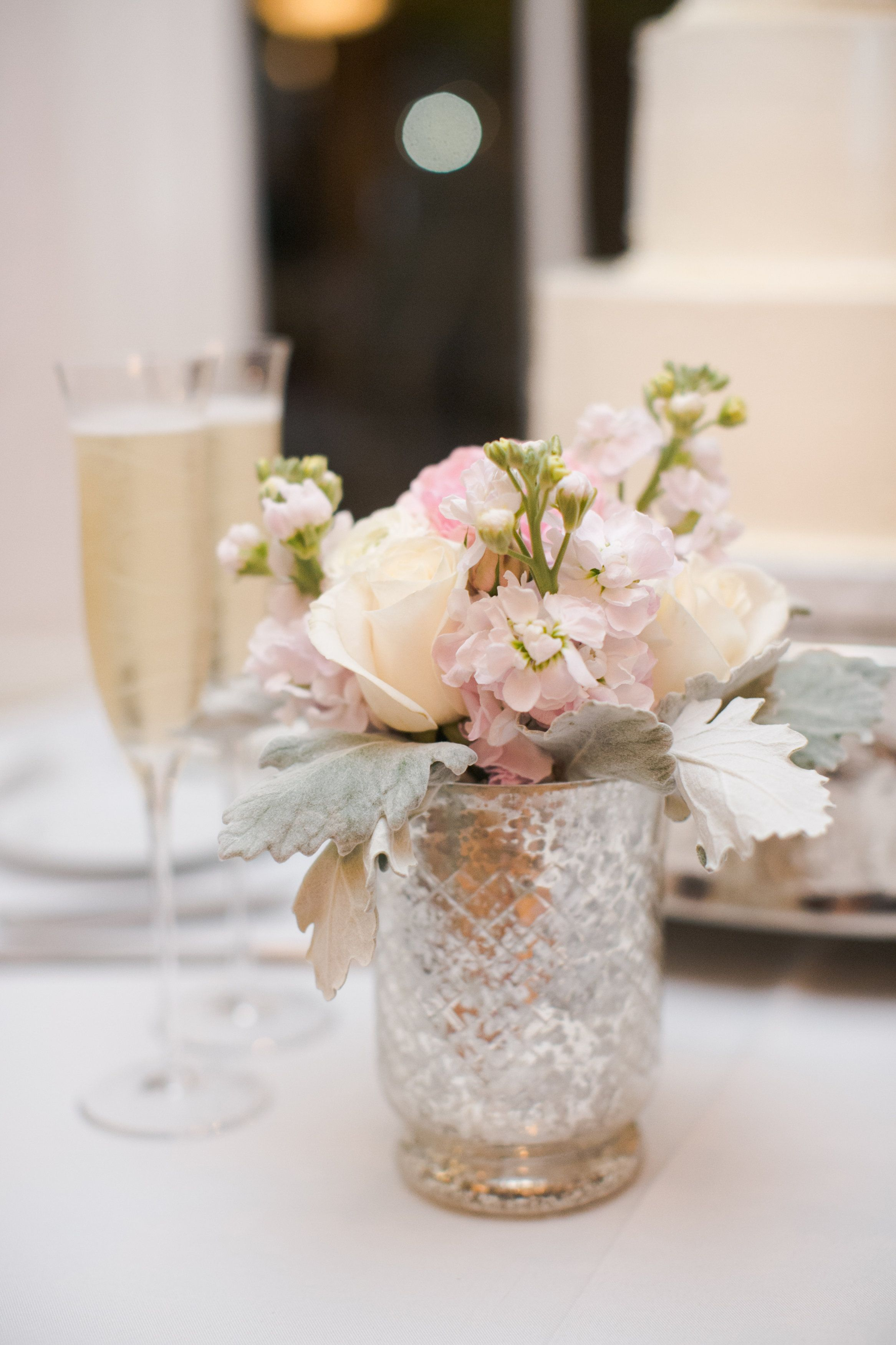 Wedding Flowers Flower Table Centerpiece Silver Gl Vase Champagne By Verbena Whole Foods Market Caroline Joy Photography Premiere