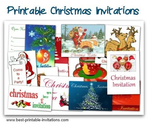 Free Printable Christmas Party Invitations  Free Xmas Invitations