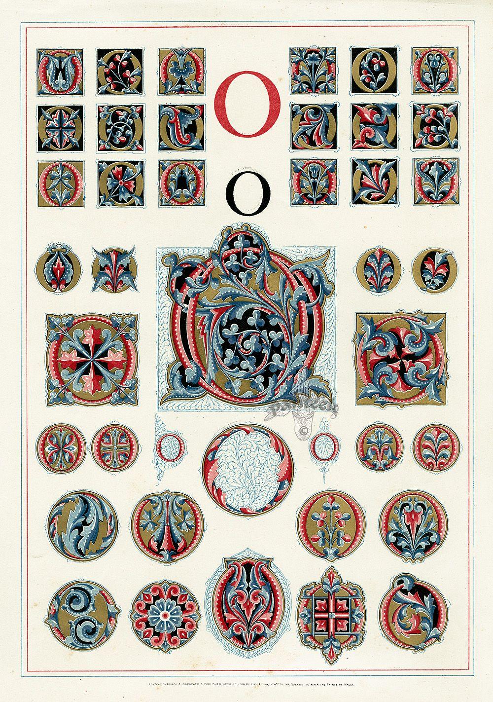 owen jones alphabet 1864 graphics alphabet pinterest calligraphie lettres et typographie. Black Bedroom Furniture Sets. Home Design Ideas