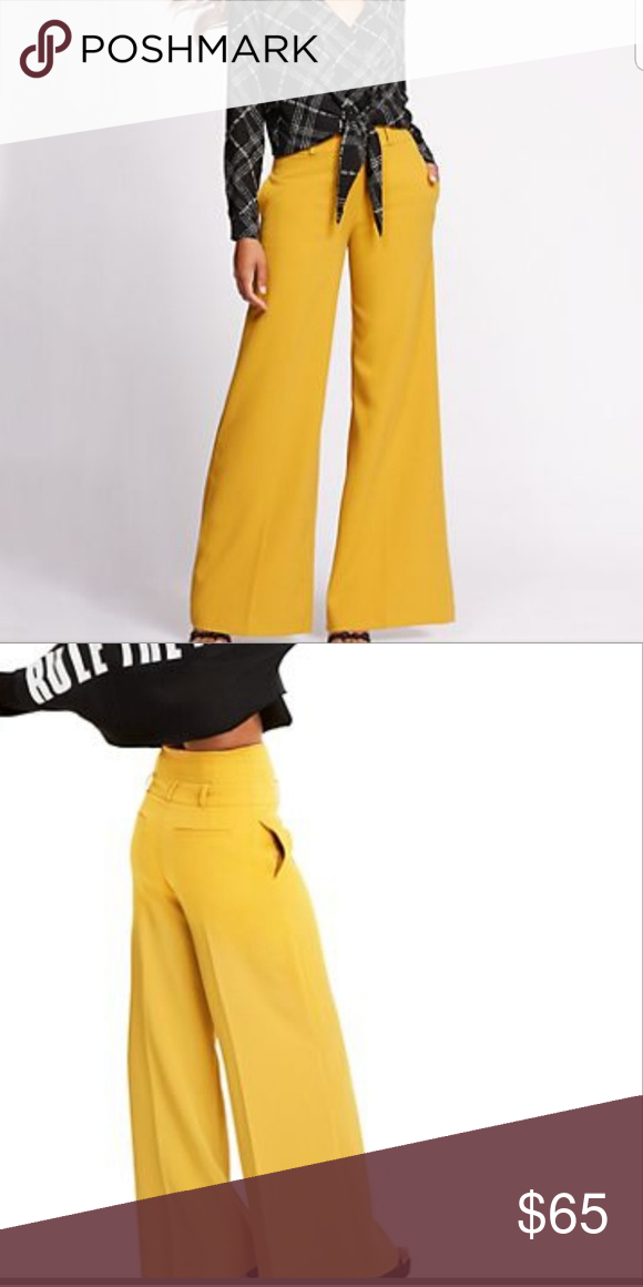 d0b7114d928a Gabrielle Union Mustard yellow Palazzo Pants New York   Company s special  edition line from Gabrielle Union. Mustard yellow Palazzo pants size 14.